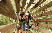 Newcastle stag party activity idea: Go Ape at Matfen Hall