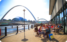 Newcastle Stag Party drinking idea:  Quayside