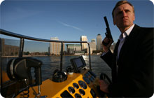 London stag party idea: Thames Rib Experience james bond boat ride
