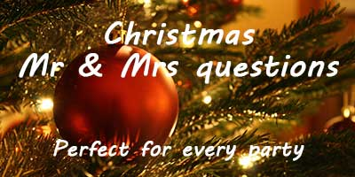 Christmas Mr and Mrs Questions