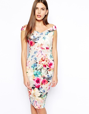 bloom print dress