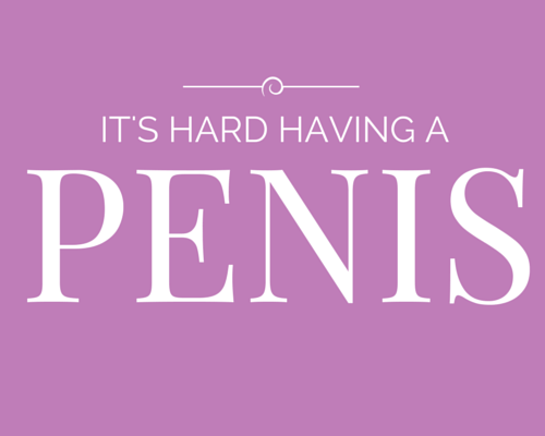 hen party game - it's hard having a penis