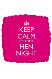 keep calm it's your hen night balloon accessory