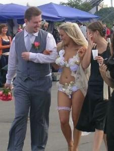 a too revealing wedding dress